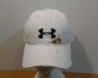 Under Armour Heavy Distressed Baseball Truckers Dad Hat Cap Strap Back