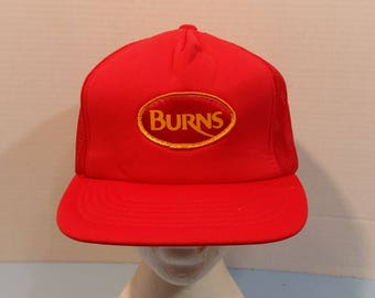 Burns Meats Baseball Truckers Dad Hat Cap snapback
