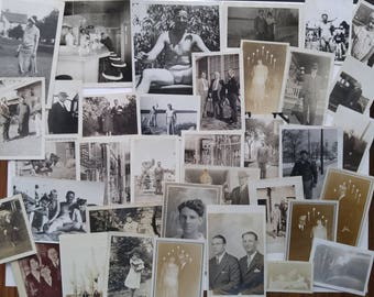 1920s and 1930s Family Picture Pack, Vintage Photos, Black and White Photography