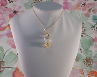 Flower Globe Crown Necklace
