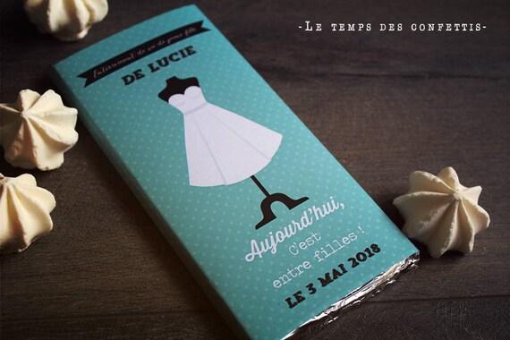 Emballage de tablette de chocolat personnalis cadeau pour la - Emballage tablette chocolat a imprimer gratuit ...