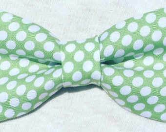Bow Tie - Olive Green Poke A Dot
