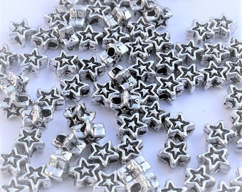 Tibetan silver 4mm cute Tiny Star shape  Jewelry Findings spacer Loose beads 4MM metal beads, spacer beads, beading supplies