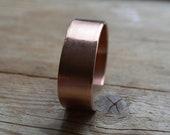 Koper armband 1,7 x 16 cm met tekst aan de binnenzijde