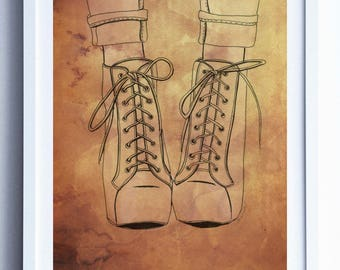Illustration shoes