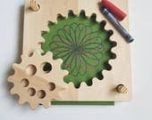Wooden spirograph - spirograph - kids spirograph - stem toy - Montessori - Waldorf - Easter gift - gift for kids - Gear toy - gift for girls