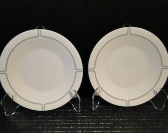 "TWO Franciscan Silver Lining Bread Plates 6 1/4"" Set of 2 EXCELLENT!"