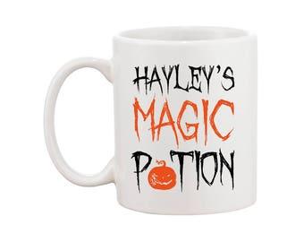 Halloween Themed - Magic Potion - Personalised Name - Mug Gift - FREE UK SHIPPING