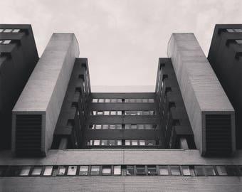 Architecture Print, Brutalism Print, Brutalist Photography, Architecture Photography, Black And White Print, Geometry Print, London Print