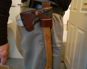 Leather axe Loop