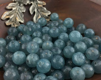 Faceted Apatite Jade Beads