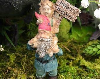 Miniature Fairy Ellie and Gnome Digby