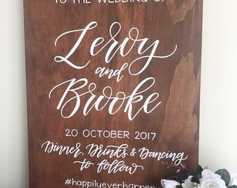 Wedding Welcome Sign | Wedding Sign | Welcome to our Wedding | Personalised Wedding Sign | Custom Wedding Sign | Wooden Welcome Sign