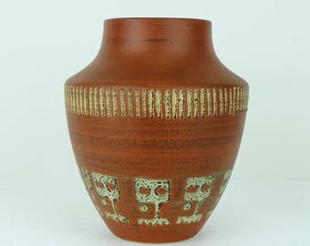 duemler & breiden mid century VASE with abstract pattern 129-23