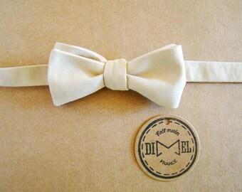 Bow tie adjustable beige to order