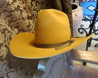 VINTAGE STETSON COWBOY Hat, Size 7, 3X Beaver,