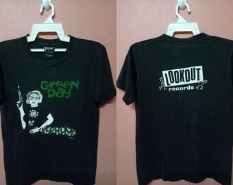 VINTAGE 90s GREENDAY Kerplunk Album American punk rock 1992 rare Tour Promo Concert t-shirt