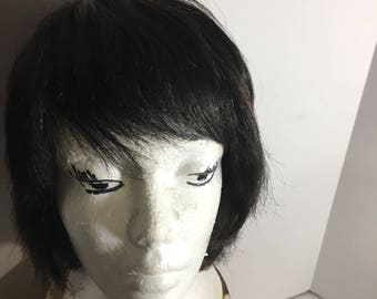 Wig12....dark brown with hints of red...Junee Fashions