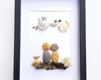 Pebble art expecting parents gift, Unique baby shower gift,  pregnancy congratulations,  expecting parents gift,  Stork delivery baby  art
