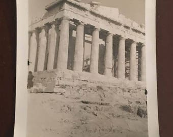 1950 Lot of 8 x Vintage, Small Photos Holidays in Greece, Family  in Acropolis  Athens
