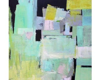 Taking Form large Abstract original painting wall art in Pastel Colors modern MCM wall decor art Atomic Ranch Paul Ashby