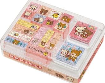 San-x Rilakkuma Rubber Stamp set - 30701