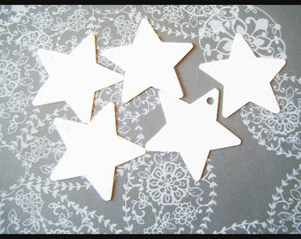 scrapbooking star white cardboard paper packaging gift tags