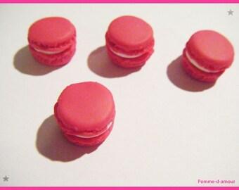 Fimo 4 cabochon button 1 cm candy treats
