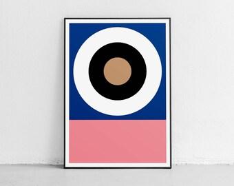 Circle 01. Wall art. Original poster. High quality giclée print. signed by designer.