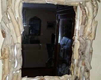 Driftwood mirror. Unique piece