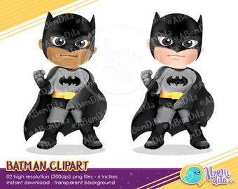 Batman Clipart, Cute Superhero Clipart, Hero Clipart, Heroes Clipart