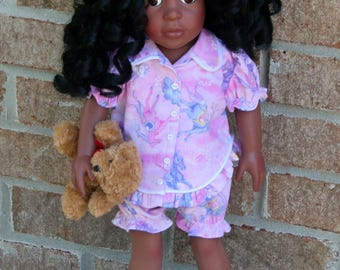 18 Inch Doll, Cute Pastel Print, Cotton, Summer Short Pajamas,
