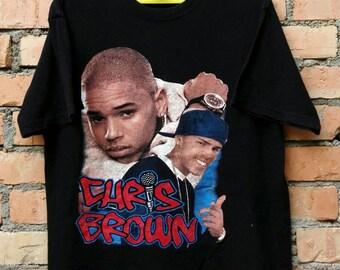 Rare!!! Chris Brown T Shirt Large Size