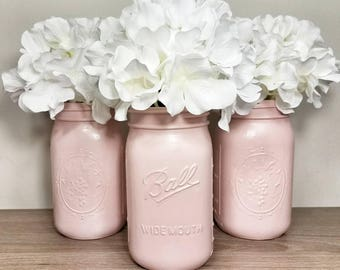Pink Mason Jars, Country Wedding, Country Wedding Decorations, Pink Party Decorations, Pink Party Supplies, Rustic Wedding, Country Wedding