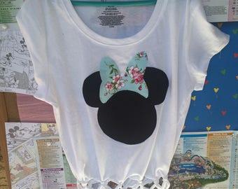 Minnie Mouse fringe tee
