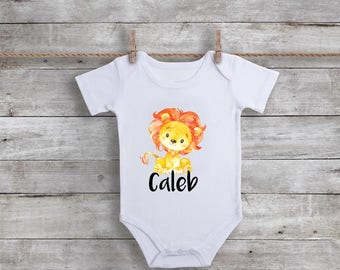 Personalized lion etsy personalized lion onesie deer baby clothes baby boy clothes boho baby clothes negle Images