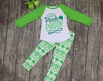 Toddler Girls St. Patrick's Day outfit, Girls St. Patrick's Day outfit, Girls, Girls Clover Outfit, St. Patrick's Day outfit girl