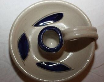 Vintage Williamsburg Pottery Candlestick Holder