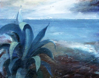 Aloe, digital download, photo of original, painting, SEA, Landscape, painting, modern art, abstract art, Landscape, Original Painting