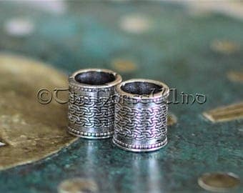 Viking Beard Beads, Hair Beads Celtic Beard Rings, Dwarven Beard Rings, Viking Amulet Silver Asatru Celtic Jewelry Viking Jewelry Norse