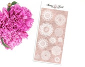 Vintage Doilies white planner stickers
