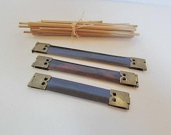 3 clasp Click Clack holder metal wallet 8.5-10 - 12 cm - 17.9