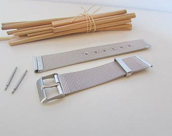 Bracelet Watch, stainless steel bracelet - supplied with pin - silver - 14 to 22 mm - 19.400