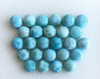 ON SALE Larimar 6mm Round Cabochons. Natural Larimar Smooth Cabs. Good Quality Gems. Price per piece