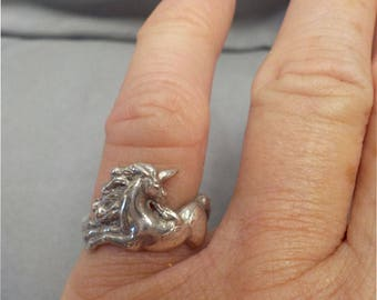 Sterling Silver Unicorn Ring