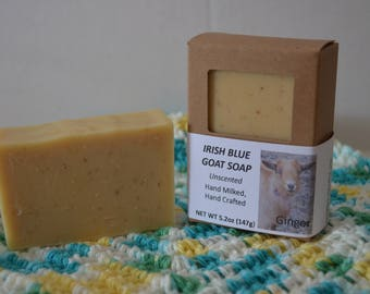 Unscented Goat Milk Soap, Bar Soap, Oatmeal and Honey, Handmade, Natural, Cold Process Method