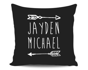 Personalized Pillow Baby Boy Arrows Shower Gift for Mom, Custom Name Pillow Nursery Pillow Decorative Pillow Throw Pillow, Baby Announcement