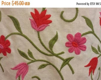 25%OFF Margaret Smith Linen Dress With Floral Embroidery Sz 12