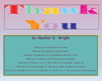 Thank You - Printable Poetry Instant Download
