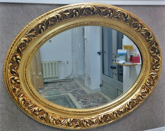 M6 Antique Solid Wood Mirror